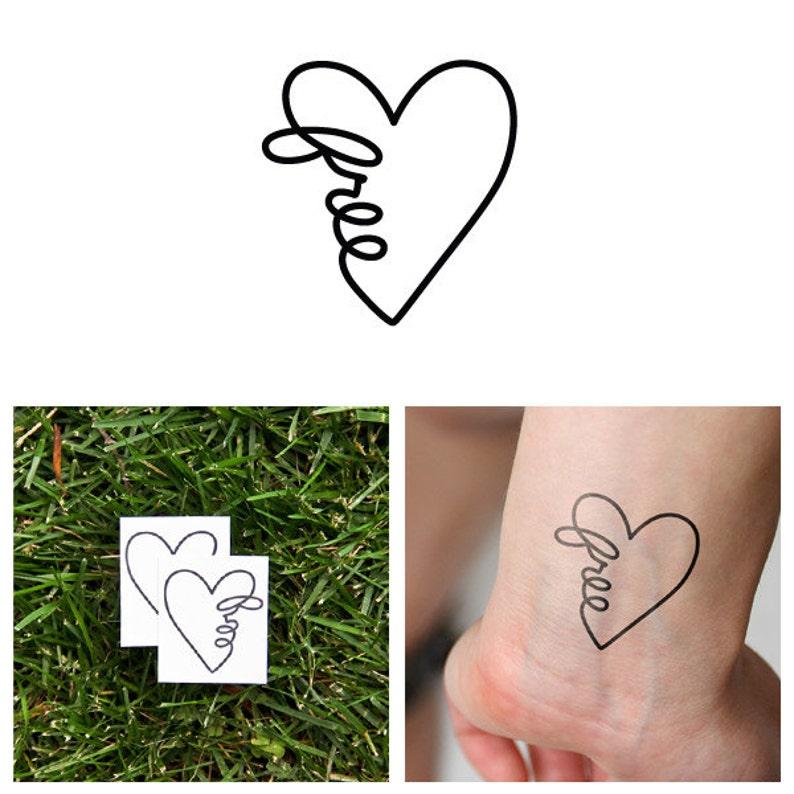 Uninhibited  Temporary Tattoo Set of 2 image 0