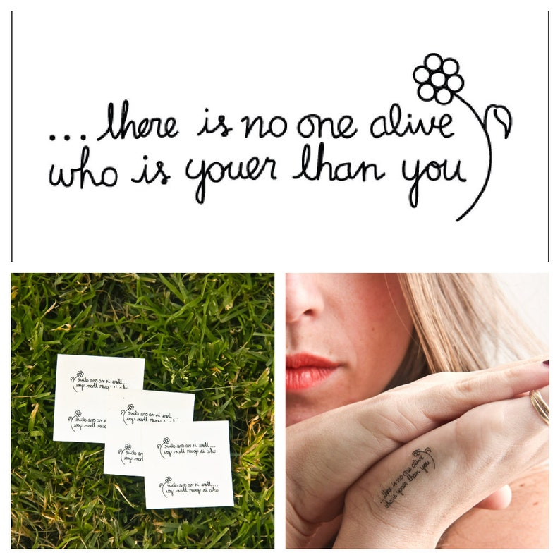 Youer Than You  temporary tattoo Set of 2 image 0
