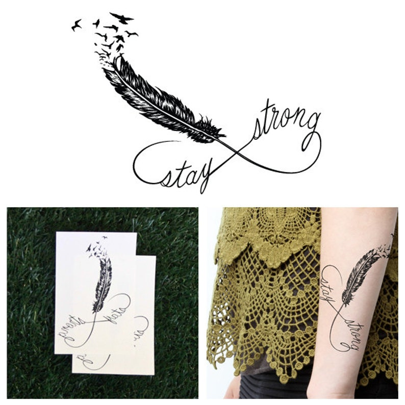Stay Strong Temporary Tattoo Set Of 2