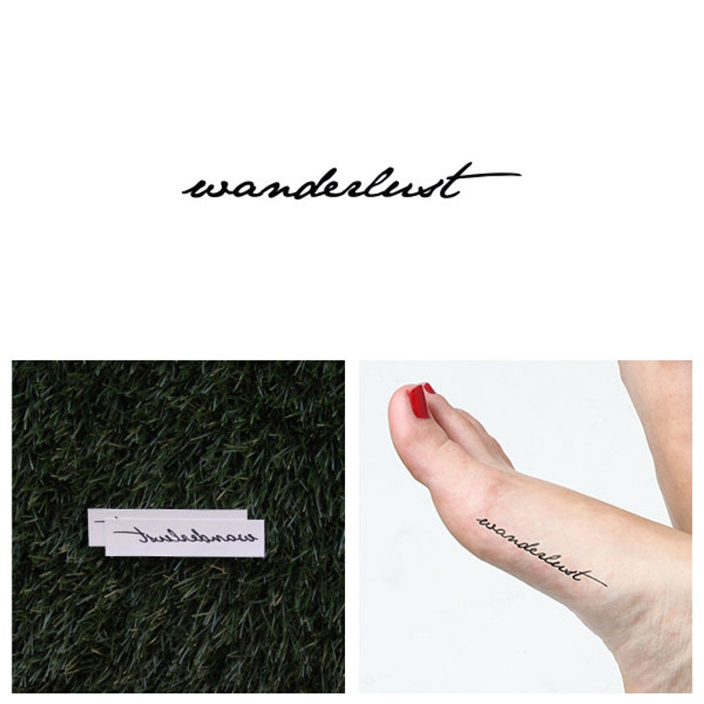 Voyager  Temporary Tattoo Set of 2 image 0