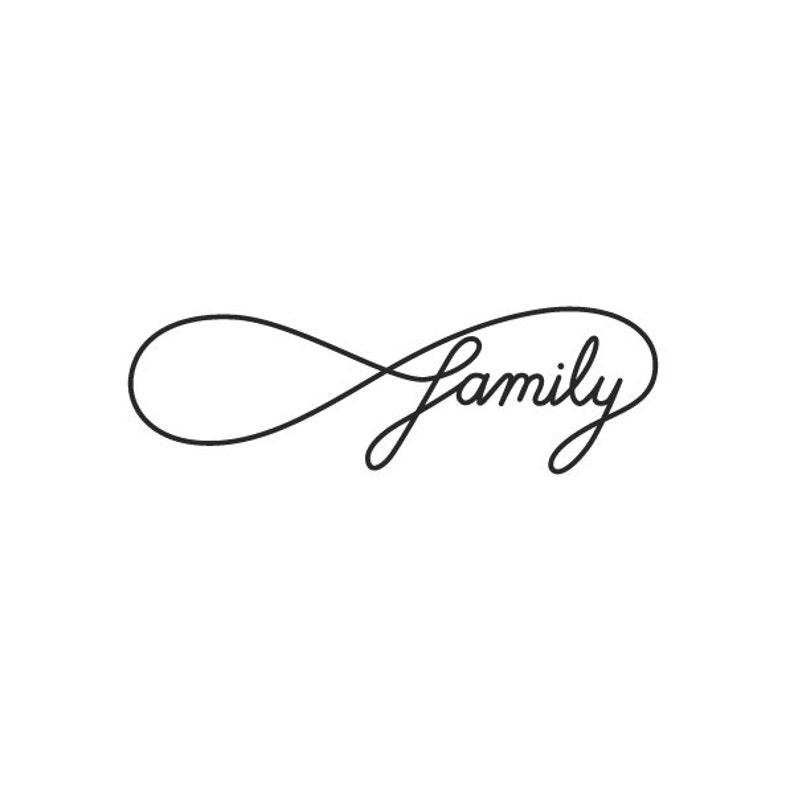 de615350965 ... Infinity Family Temporary Tattoo Set of 2 image 3