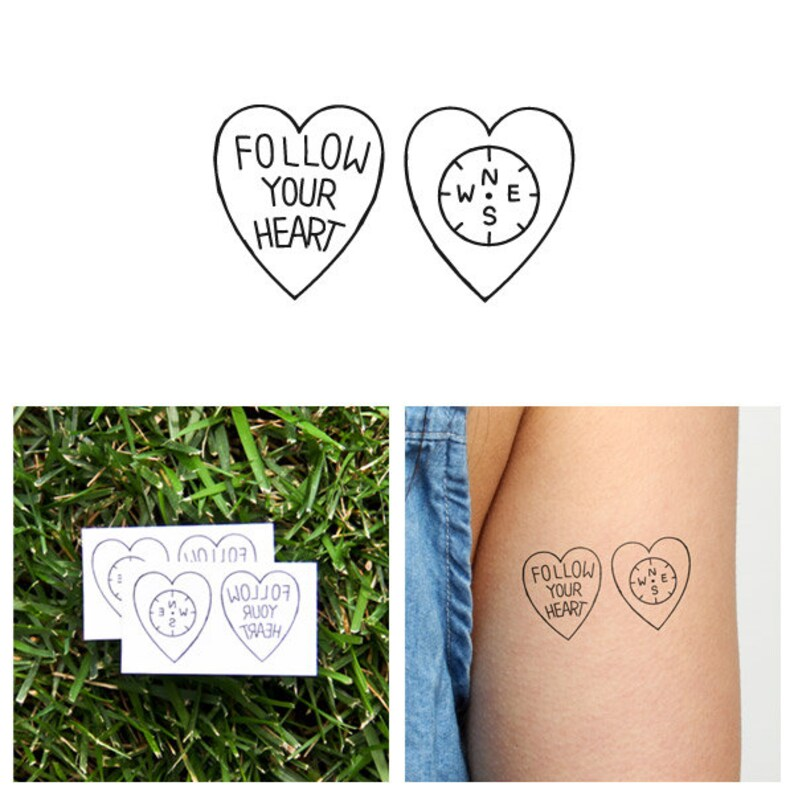 Encompassed  Temporary Tattoo Set of 2 image 0