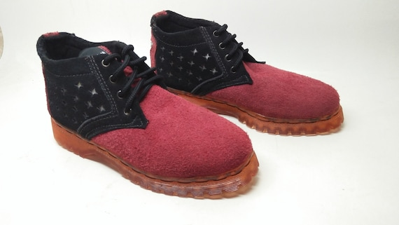 39d0357007efe black pink leather shoes US 5 - 5.5 women / EU 36, pink transparant sole,  handmade Marapulai sneakers, ankle boots