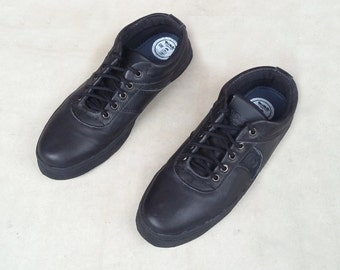 Black leather shoes handmade Rangkayo casual sneakers Preorder unisex shoes