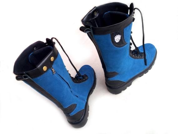 haut bleu noir Bottes femme femme femme fait à la main Rangkayo chaussures précommande unisexe | Luxuriante Dans La Conception  767050