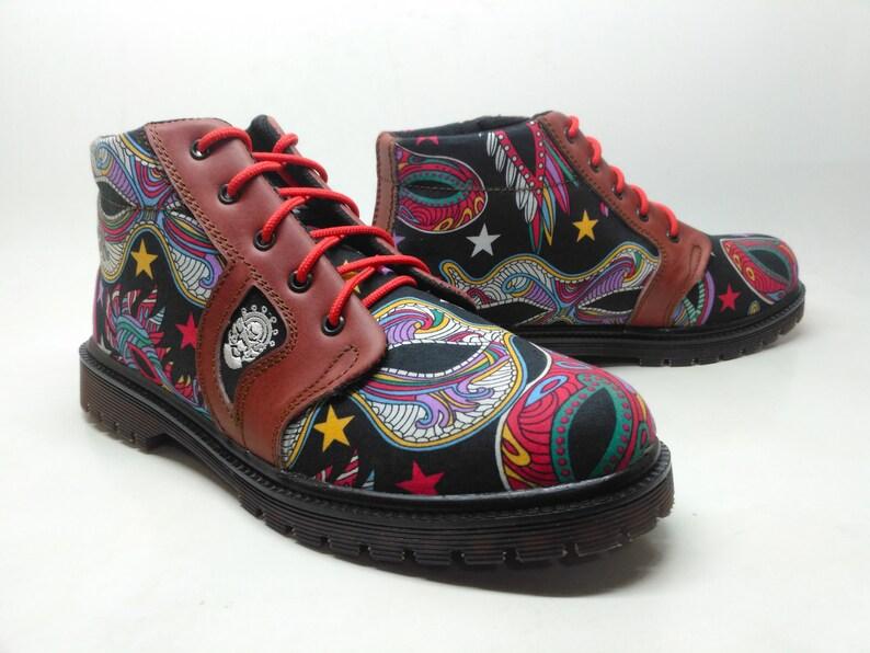 Sneakers Groesse Leder Marun Rangkayo Bunte Handgemachte Eu