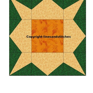 Geese In A Tree Paper Pieced Quilt Block PDF