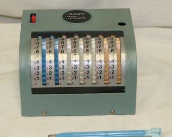 Vintage Swift Handy Calculator Desktop Adding Machine