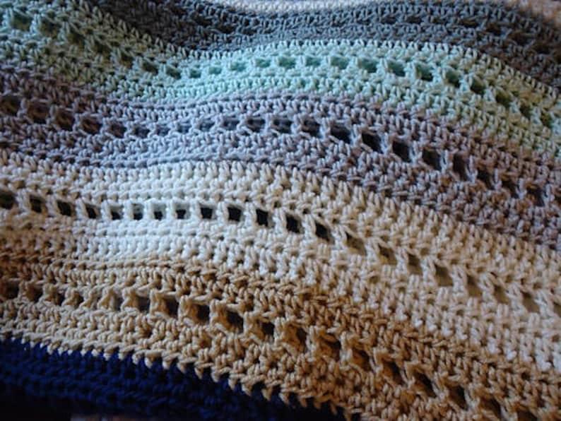 Crochet Blanket Pattern PDF - Blocks & Stripes Crochet Afghan - Handmade  Afghan, Handmade Blanket, Crochet Blankets, Crochet Afghans, DIY