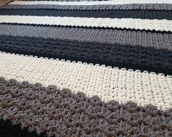 Crochet Blanket Pattern PDF- Modern Lace Crochet Afghan - Handmade Afghan,Handmade Blanket,Crochet Blankets,Crochet Afghans,Crochet Patterns
