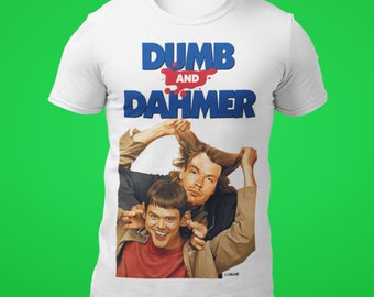 45d47873 DUMB and DAHMER, Funny Tee, Jeffrey Dahmer, Jim Carrey, Dumb and Dumber,  Cotton T-Shirt, 14 Colors, 7 Sizes, Original Art