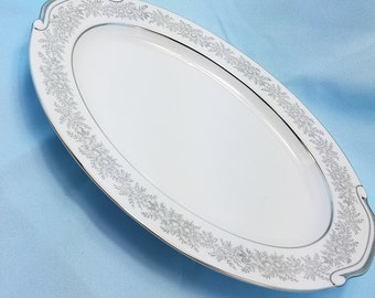 """16"""" Oval Serving Platter Brilliant by SEYEI Fine China  meat server"""