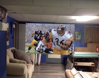 44x30apx Jerome BETTIS Vinyl Banner Poster Pittsburgh Steelers art Jack  lambert terry bradshaw Franco Harris Troy Polamalu NEW 03a4da5ce