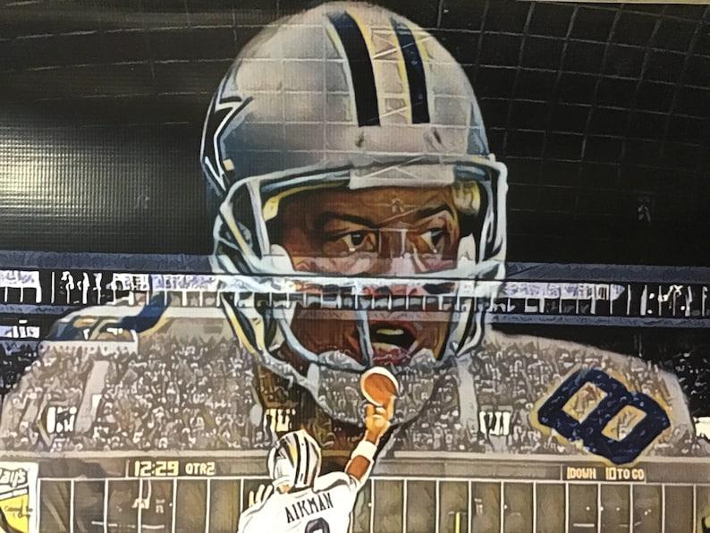 Huge 44x30 Troy Aikman Vinyl Banner Poster Dallas cowboys dez bryant Ezekiel Elliott Emmitt Smith Michael Irvin football ART