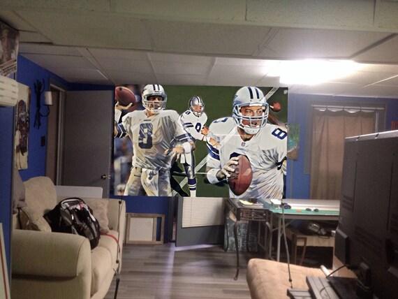 Huge 44x30apx Troy Aikman Vinyl Banner Poster Dallas Cowboys Dez Bryant Ezekiel Elliott Emmitt Smith Michael Irvin Football Art Dak Prescott