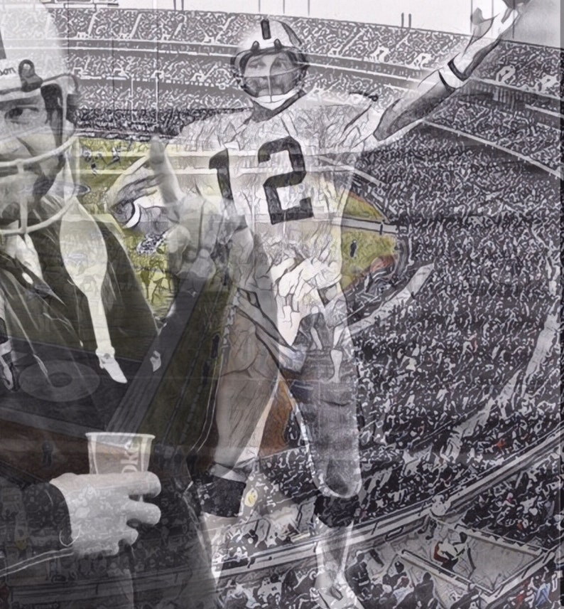 Huge 47x26 Kenny Stabler Vinyl Banner Poster john Madden Oakland raiders football Artwork lester hayes  jack tatum marcus allen bo jackson