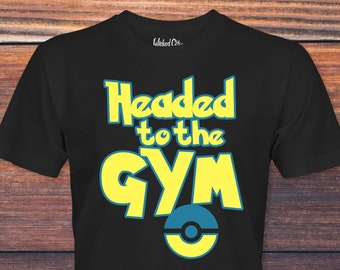 2dfb90a9 Headed To The Gym Pokemon Tee. DeerFriendChicago. $15.00 FREE shipping.  Favorite