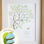 Boy Christening, baptism, naming day, baby boy, fingerprint tree, INCLUDING INKS, diy baby room decor, custom birth details, A4 print