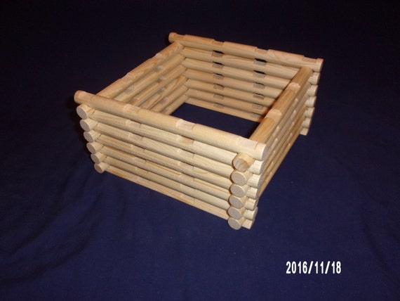 30 piece 4 notch 'Lincoln Logs' add on set, handmade