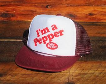 151712c221e Vintage I m a Pepper Dr Pepper Snapback Hat