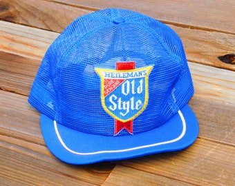 02be46bb6b1 Vintage 70s Heilemans Old Style Beer Mesh Snapback Hat