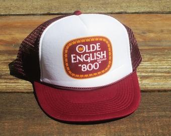 e53b88f61eec9 Vintage Olde English 800 Malt Liquor 40 oz 8 Ball Mesh Snapback Hat
