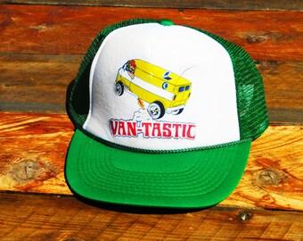Vintage Van Tastic 70s Chevy Ford Dodge Van Mesh Snapback Hat 3eafaefd1647