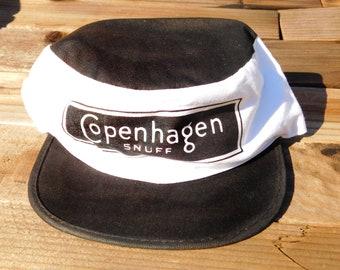 Vintage 80s Copenhagen Snuff Painters Cap Cycling Hat 4a550b0db5a