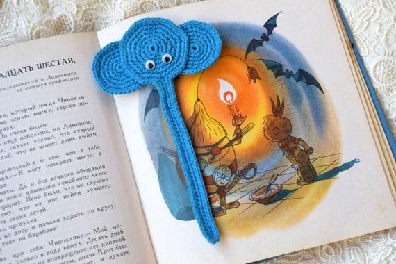 Elefant Kinder Häkeln Lesezeichen Tier Buch Liebhaber Geschenk Etsy