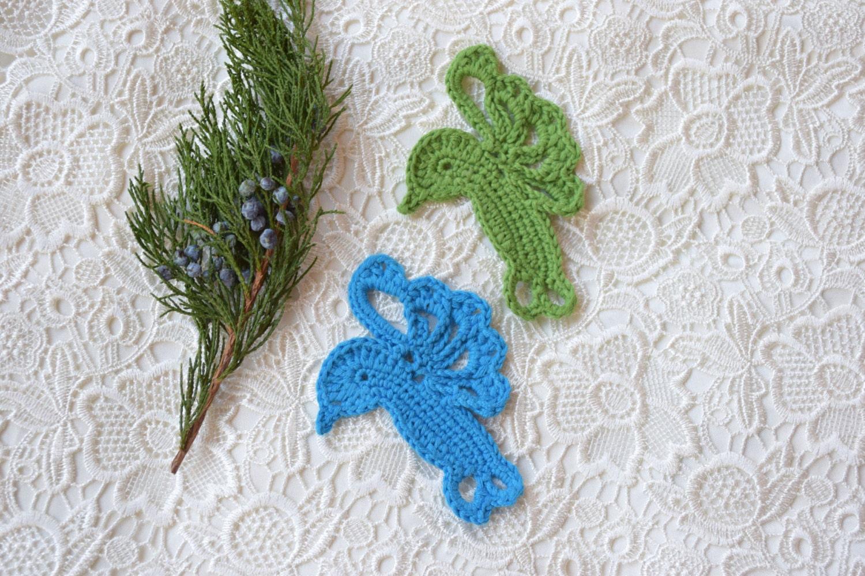 Crochet Appliques Hummingbirds Bird Motif Sewing Craft Etsy