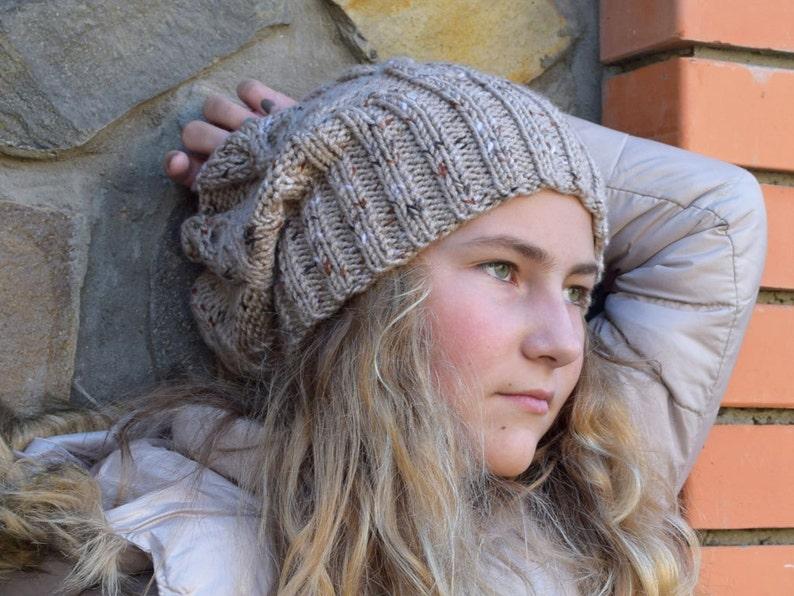 20e62a45cc144 Women slouchy beanie hat Knit slouch Teen girl hat Hippie image 0 ...