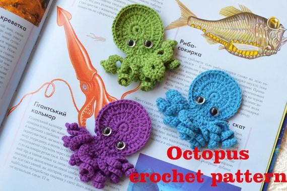 Crochet Pattern Octopus Applique Ornament Crochet Crafts Etsy