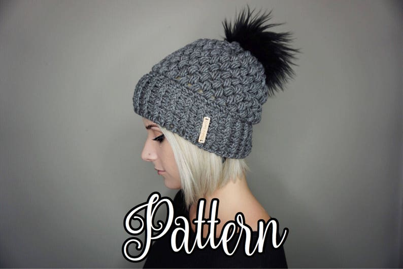 281d3e2f1d178 CROCHET PATTERN Fitted Puff Stitch Beanie pdf File Charlie