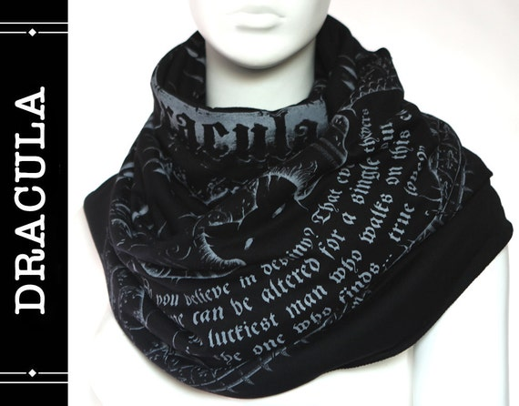 Dracula Book Scarf by Etsy