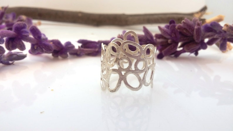 Delicate ring Round circles ring Silver ring Unique Pinterst ring Etsy ring Boho rings Design ring Special ring Hand made jewelry