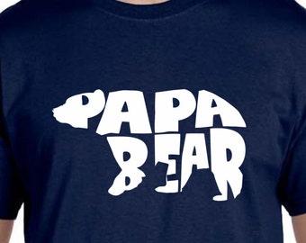 Husband Gift Papa Bear Tshirt Gifts For Husband New Dad Gift New Dad Gifts For Dad Brother Gift Boyfriend Gift Christmas Gift Pregnancy Gift