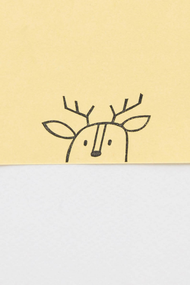 Peekaboo Deer Stamp Cool And Funny Rubber