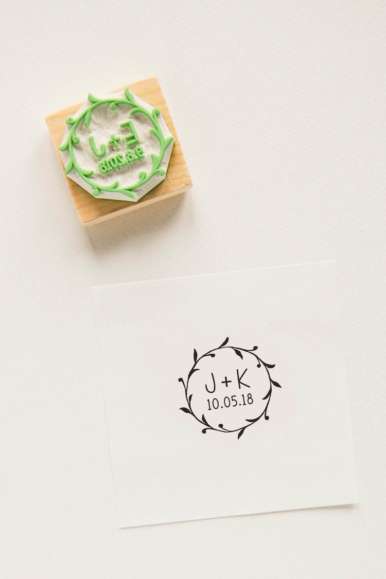 Custom Wedding Stamp Wedding Rubber Stamp Save The Date Etsy