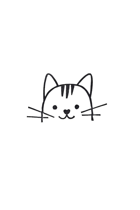 Cat Rubber Stamp Birthday Gift Kids Peekaboo