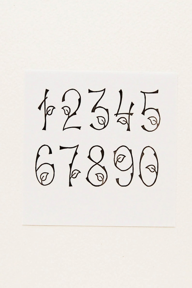 Woodland Numbers Stamps Birthday Gift Rubber Nature Etsy Jpg 794x1191 Stamp Easter Office