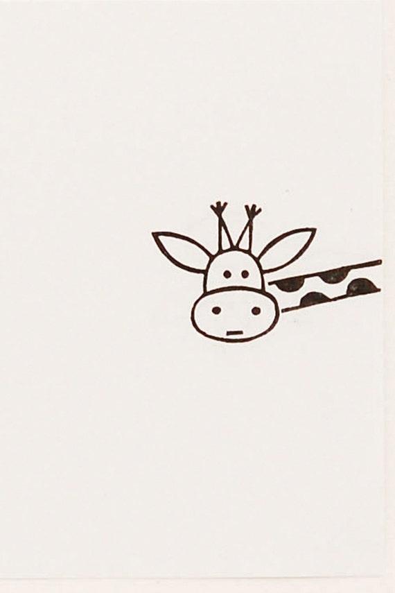 Giraffe Stamp Rubber Kids Gift Best Friend Cute