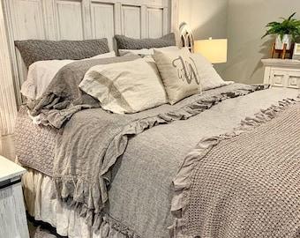 Bed SHEET SET, linen shabby chic bedding , linen sheet set , bedding set queen king 100% linen , linen bedding sheet set stonewashed