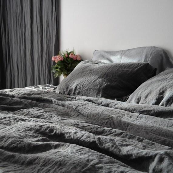 Elegant LINEN DUVET COVER And Two Pillowcases. French Linen Bedding | Etsy