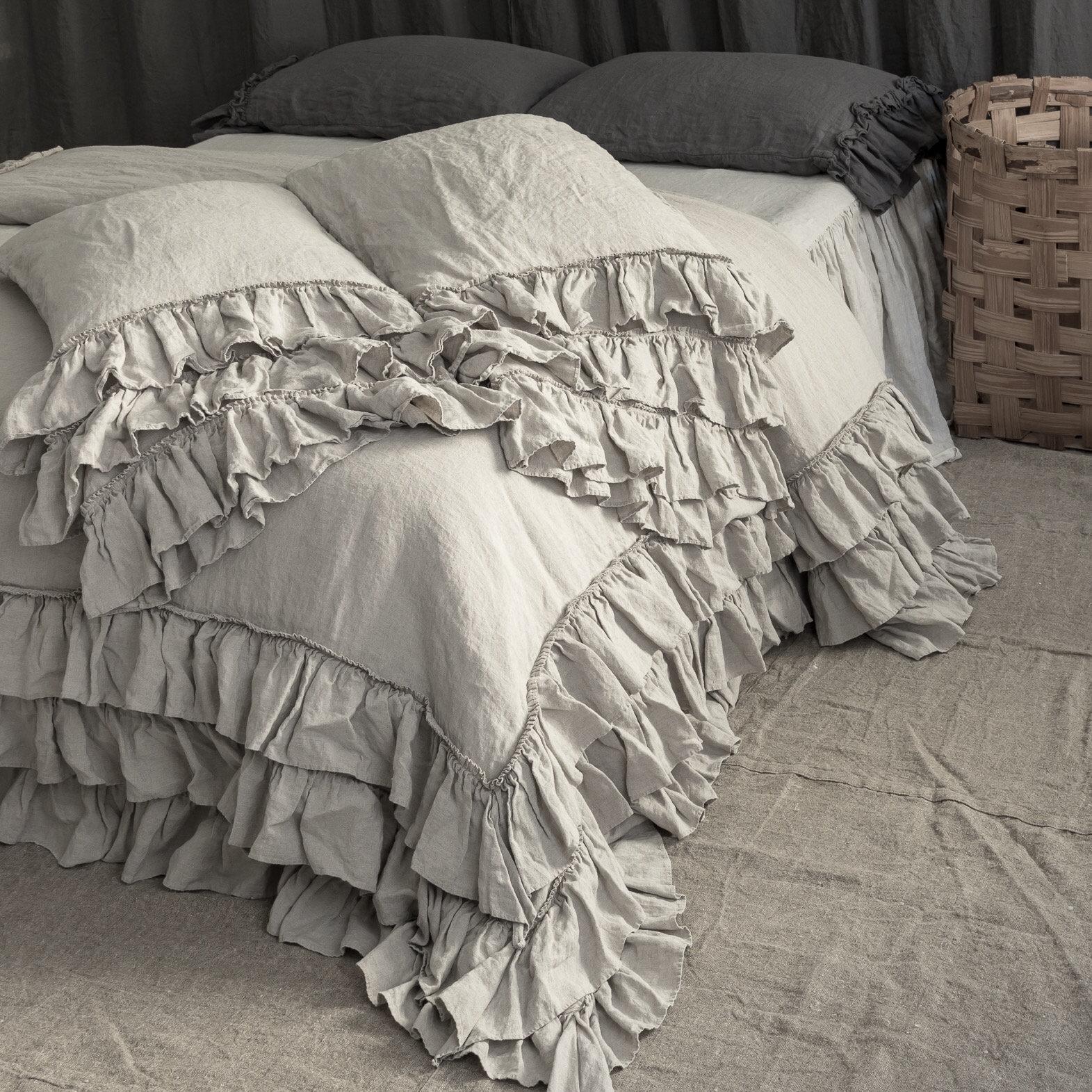 Linen Duvet Cover Linen Bedding Set French Style Thick