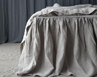 LINEN BED SKIRT dust ruffle. Linen bedskirt. Made by MOOshop.new*2