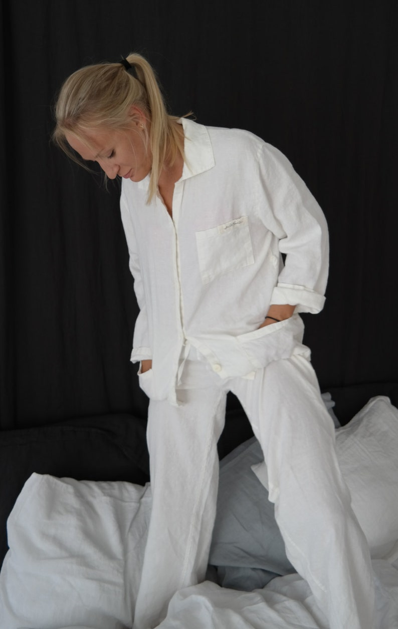 Linen pajama JANE  linen  sleepwear linen pajamas  linen image 0