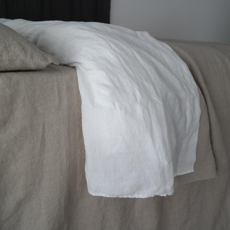 Handmade linen bedding by MOOshop.*41 LINEN SHEETS French linen top sheet