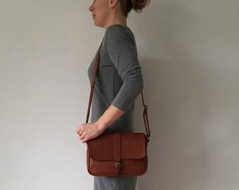 Leather Satchel, Minimalist Handbag, Leather Shoulder Bag