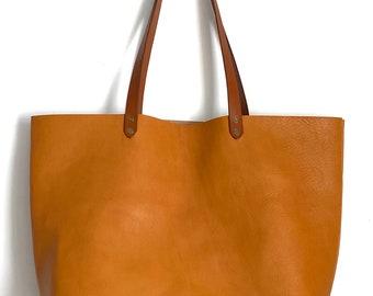 Large Tan Leather Tote, Leather Weekend Bag, Large Tote Bag, Large Leather Bag, Tan Shoulder Bag, Tan Market Bag, Tan Beach Bag, Tan Bag
