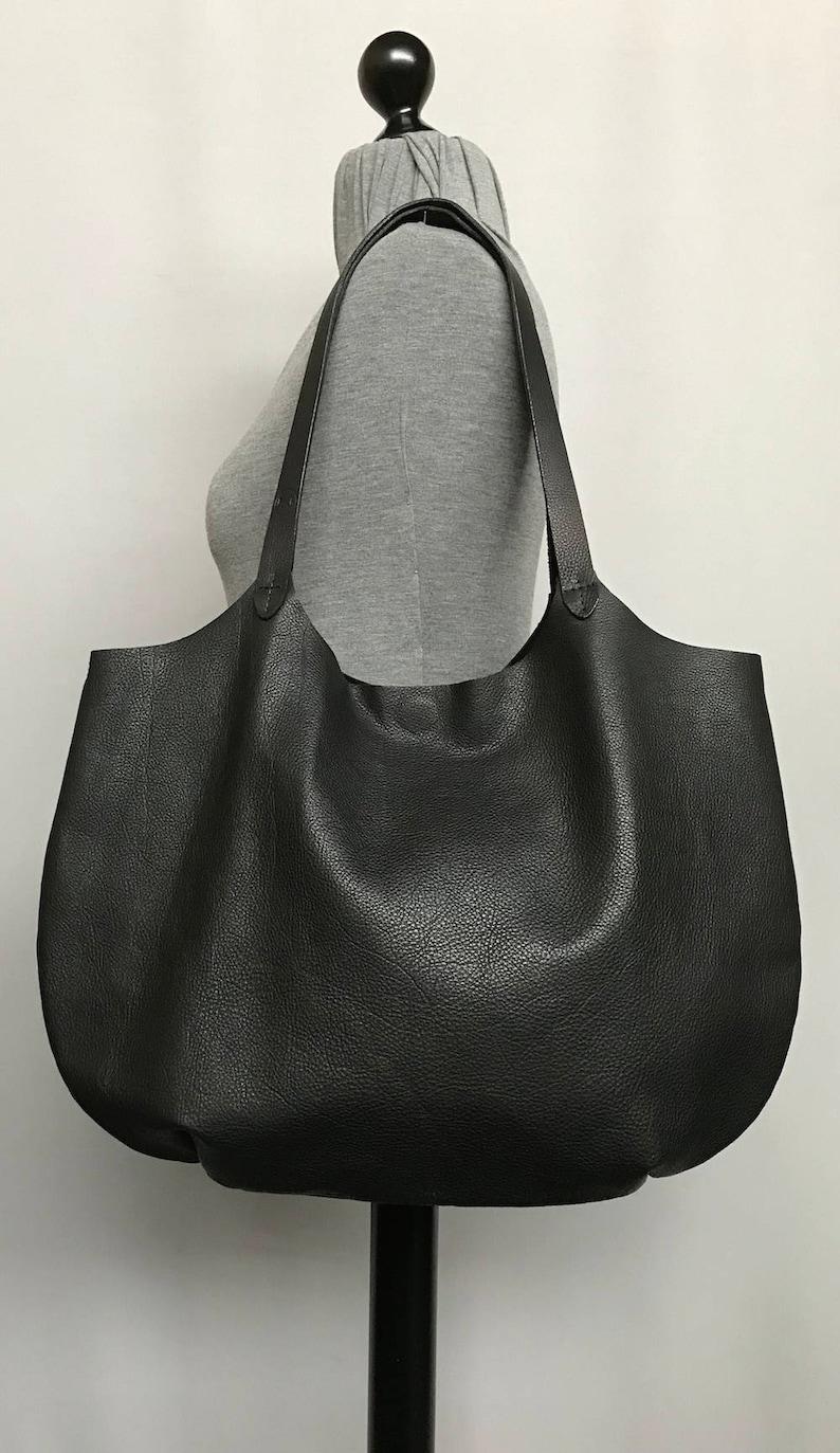 f95ebaa41065 Super soft black leather shoulder bag